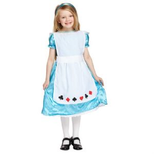 Age 7-9 Medium GIRLS Childs Alice Wonderland Fancy Dress Costume